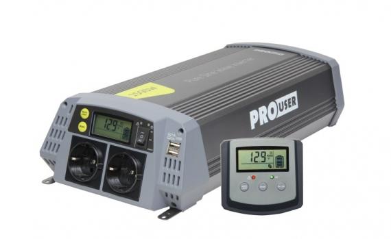 Pro-User PSI600 szinuszos inverter kijelzővel 600/1200W