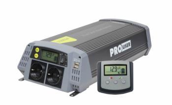 Pro-User PSI1500 szinuszos inverter kijelzővel és solar vezérléssel 1500/3000W 2.Kép