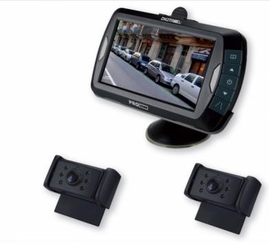 """Pro-User DRC4320N digitális vezeték nélküli tolatókamera rendszer 4,3"""" monitorral, 2 db kamerával"""