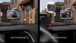 """Pro-User DRC4310DC digitális vezeték nélküli tolatókamera rendszer 4,3"""",  Dashcammel 3.Kép"""