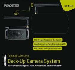 """Pro-User DRC4340 digitális vezeték nélküli tolatókamera rendszer 4,3"""" monitorral, nagyobb hatótávval 6.Kép"""