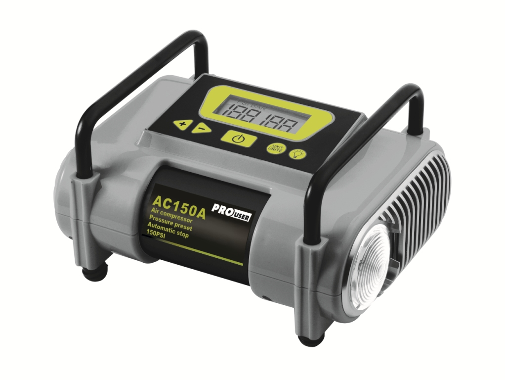 Pro-User AC150A automata kompresszor 12V LCD kijelzővel