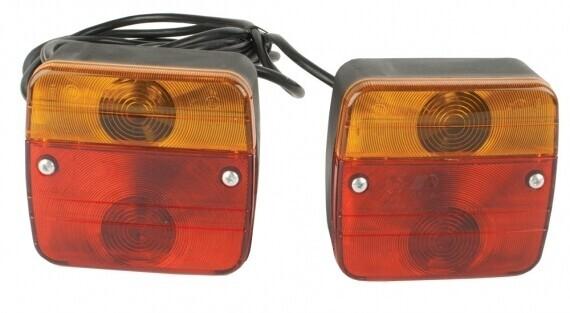 Pro-User Dafa 3 funkciós hátsó lámpa komplett szett, kábellel, csatlakozóval